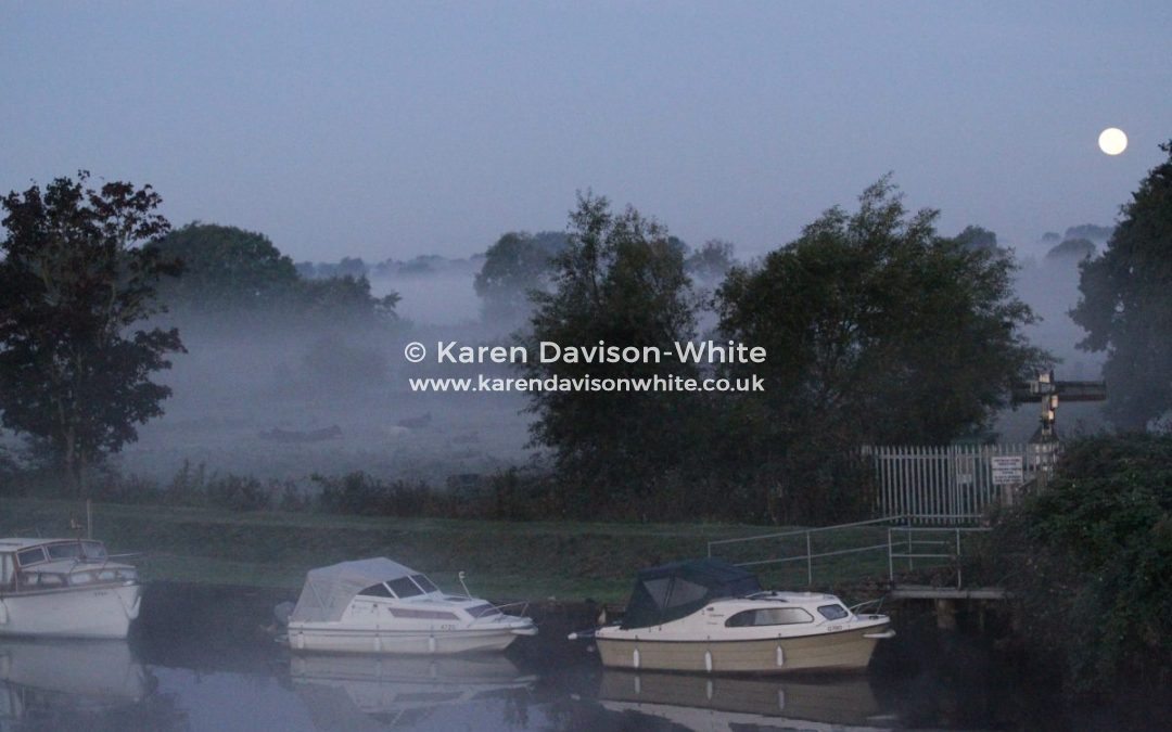 Mist on the River Waveney, Suffolk.